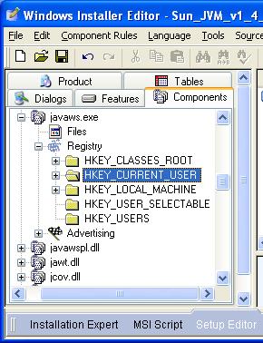 registry machine components
